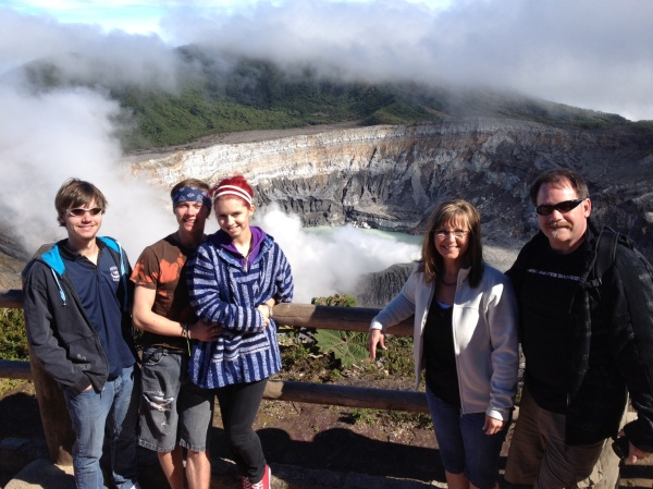 Braun Family at Poas Volcano.